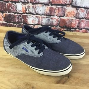 Puma Boat Shoes Size 8 Blue